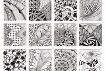 Zentangle / The meditative practice of doodling for fun... Zen tangle. / by Gabrielle Conde