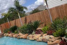 landscaping around pool ideas / by Kaylene Washington-Hague