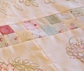 Vintage linens and fabrics / Uses for vintage linens and fabrics / by Jean Brashear