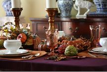 Tablescapes - Fall/Thanksgiving/Halloween / by Melissa Lobos