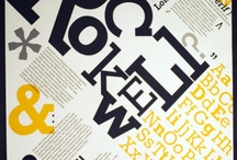 Rockwell Font Specimen / by Celestia Caredio