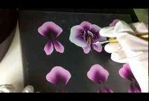 ONE STROKE pittura sfumata  nn solo per fiori bellissimo_beautiful! / by Nicky64