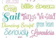 fonts / by Annette Clemons