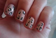 Leopard Printed Nail Arts / by Danette Stevens Goodroad