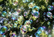 Bubbles, Bubbles, Everywhere  / You just can't be sad around bubbles.  Keep some on hand no matter your age and when you are down dig them out and go make some.  It will work wonders!  / by Marcia Packard Kenney