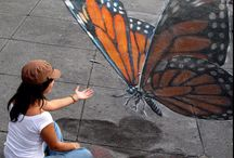 sidewalk art / PIN ALL YOU WANT. NO LIMITS HERE.  / by Cynthia Kelly