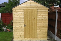 Sheds / There's just something so satisfying about a good shed. Nothing says England quite like a well put together shed and I am English after all! You can also store spray paint in them if the wife gets aggy about having it in the house. Lovely. / by The Real Banksy