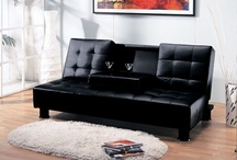 Modern Sofa Futon Couch / TFS convertible sofa designs are comfortable for everyday lounging, and they fold out to provide a welcome resting place for an overnight guest or week-long stay.  / by The Futon Shop Organic Futons & Mattresses