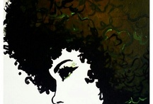Black Art & Afro-American Art / I Absolutely Have An Obsession Afro Black Art / by Mel Mel