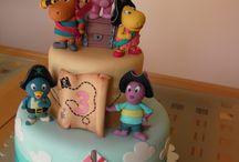 "Backyardigans cake and figures by Studio ""Fondant Design Ana"" / by Figurice Za Torte"