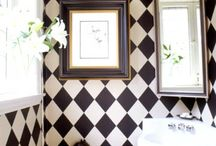 black and white decorating ideas / by Mary Naquin