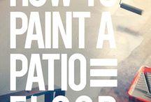 Painted Patio Concrete / by Megan Moos