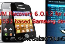 CWM Recovery / by Ultimate Resource for your Samsung Galaxy device www.GalaxYYounG.Net