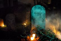 Cemetaries, Haunts & Ruins... / I enjoy Halloween.  Nothing gruesome, just spooky and eerie...these images give me inspiration for some great decorating. / by K. Phinney