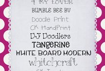 i heart fonts / by Gina Hester