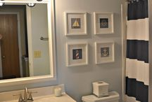 nautical bathroom / I really want to do this to one of our bathrooms! / by Carrie Hill