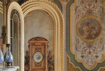 grottesca/fresco / examples and inspiration of murals and wall finishes that feature grottesca or fresco finishes / by Bonnie Lecat Designs