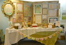 Art Show Booth display Ideas / by susan e jones Colorful and Charming Art