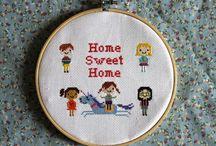 Project cross stitch! / by Elke De Lille