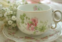 Cup and Saucers and Tea / I treasure the small cup and saucer collection that I have had since a little girl- ones given to me by Aunt Ardis and Aunt Helen. Now I enjoy Pinterest finds! / by Janelle Stephens