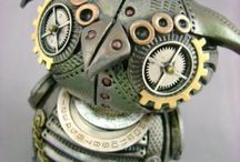 Steampunk/Found Objects / Steampunk jewelry and sculptural works made from found objects.  #steampunk #found objects #jewelry #sculpture  / by Carolyn Sorensen