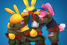 Special Hops and Friends / Commander Jack, Lieutenant Cashmere and Cadet Cottontail: A team of heroes fighting for #freedom and #liberty. http://bit.ly/xLgXMa / by Cherry Tree