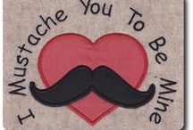 Valentine Embroidery Designs and Appliques / Valentine machine embroidery designs and appliques / by 8 Claws and a Paw Embroidery