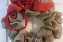 Burlap, Wreaths and Door Hangings / by Lisa Farmer