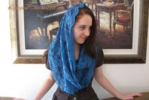 Prayer Veils, Scarves & Shawls / Veils and scarves to wear for church  / by Eve-Lyn Williams