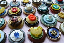 buttons / I love buttons...especially vintage/antique buttons...so fun to use...to add embellishments to quilts, to make jewelry, to just play with. / by Kim Teigen