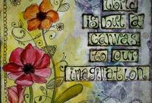 ~Art Journal Flowers~ / by Doc & Linda Penewit