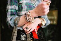 arm party bracelets/watch / by Corvus Noir
