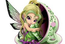 Fairies / Come Fairies, take me out of this dull world, for I would ride with you upon the wind and dance upon the mountains like a flame!   William Butler Yeats    / by Pam Soukup