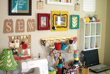 sewing/craft rooms / by Cindy Adams