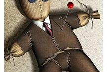 Dolls - Creepy, Scarey, Voodoo Etc / These dolls are mysterious; odd; creepy or very scarey / by Kathy Skaggs