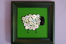 button, crayon and paper tube art / by Deb Thomas
