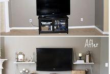 House / Media room shelves / by Amanda Granhaug