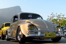 Volkswagons  / These are pics of the Volkswagon bug and bus.. Wonderful old cars / by Kathy Seelig