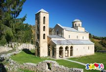 UNESCO World Heritage Sites in Serbia / In selecting the properties which Serbia put forward for inclusion in the World Heritage List, an emphasis was placed on Serbia's mediaeval heritage, particularly monasteries and royal mausoleums belonging to the Byzantine sphere of cultural influence, but with recognisable national characteristics.  Serbian sites so far added to the UNESCO list of World Heritage Sites: Studenica monastery, Stari Ras and Sopoćani, Mediaeval Monuments in Kosovo and Gamzigrad – Romuliana.  / by Serbia Travel