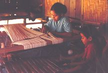 Chiapas Textiles /  Traditional Mayan huipil -- elaborate brocaded weaves done on outdoor backstrap hand looms -- are still worn today among the Chiapas Maya villages of the southern Mexico highlands.  / by ChichenItza Bob