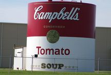 Ohio - Indiana / Water tower Campbell soup factory / by Costanza Carbone