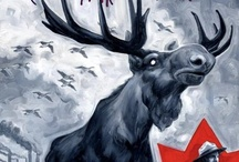 CANADA:  image / Vintage posters, Mounties and Moose; Trees and snow...sorry / by Jane Smith