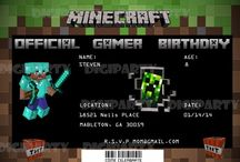 Minecraft Party Ideas / Mine craft birthday party invitations, wall signs, and party theme ideas. / by DigiParty