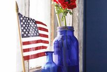 Red white & blue / by Jane Reeves