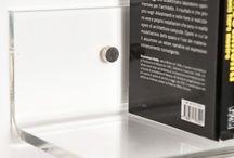 Mensole design in plexiglass / Le nostre mensole dal design minimalista ed essenziale, sono realizzate solo e soltanto in plexiglass trasparente. Grazie al loro disegno particolare, non hanno bisogno di essere fissate con i reggimensola e possono essere realizzate su misura. #plexiglass #design #mensole #arredo #arredamento #roma #verona #mensola  / by Designtrasparente online shop