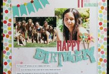 Scrapbooking - Birthday / Scrapbook page ideas for birthdays, parties & celebrations. / by Spotted Canary