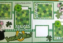 Scrapbooking Layout Pages St. Patrick's Day  / by Kim Vovillia
