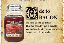 """Ode to Bacon / We just launched Man Candles II and are excited to introduce you to MMM, Bacon! and Movie Night. In honor of MMM, Bacon! We're sharing our """"Ode to Bacon"""" and posting odes from our fans. / by Yankee Candle: Scented Candles 