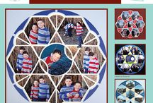 Rose Window Stencil / This Board shows different Photo Collage layouts all using the Rose Window Stencil as the design template. / by Lea France Scrapbooking (Photo Collage)