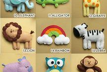 Juguetes para bebes y niños / Juguetes creativos en tela y demás  / by Monica Barrios Meave